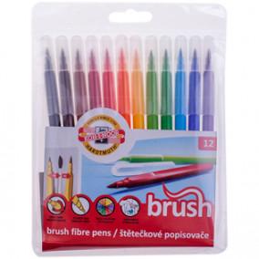 """Фломастеры 12цв. """"Brush"""" с кистевым пишущим узлом, Koh-I-Noor"""