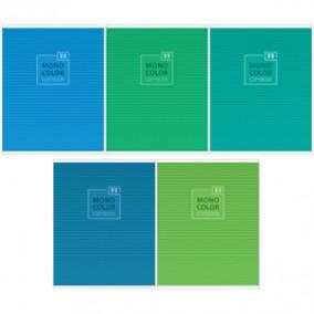 Тетрадь 96л А5 линия Моноколор. Blue&Green