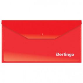 Конверт на кнопке C6, 180мкм, ассорти, Berlingo