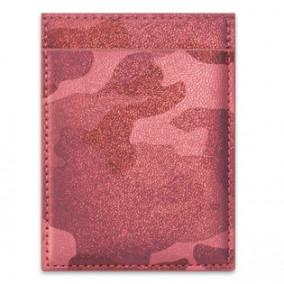 Чехол для пласт. карт Камуфляж металлик, 3 отд, ассорти