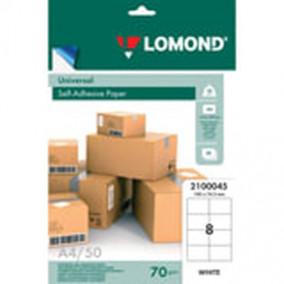 Этикетки самоклеящиеся Lomond 105*74,3мм, 8шт. А4/50л.