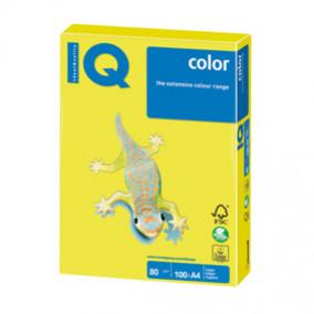 Бумага IQ MAESTRO Color 80, 100л. Неон желтый