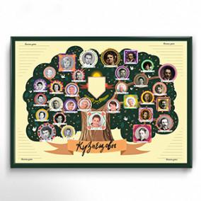 """Плакат-раскраска """"Создай свое семейное древо. Классический"""" 42х59,4см"""