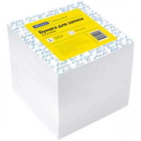 Блок для записи OfficeSpace 9*9*9см белый, на склейке