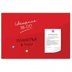 Доска магнитно-маркерная 40х60см, стеклянная, красная, BRAUBERG