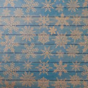 Бумага упаков. крафт «Снежинки на дереве», 50 × 70 см