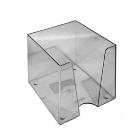 Подставка для бумаг 90х90х902мм., Рантис Куб, дымчатый пластик