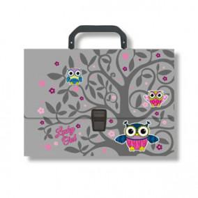 Портфель пластик, А4, Lucky Owl, ЕК