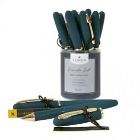 Ручка масл. 0,7мм, LOREX серия Grande Soft, т-зеленый