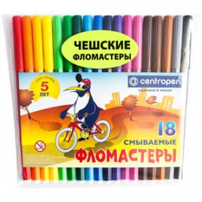Фломастеры 18цв. Centropen Пингвин