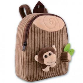 Рюкзак детский Обезьянка, 28х24х8см, вельвет