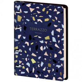"Тетрадь на кольцах А5 80л. ""Vision. Italia Terrazzo"", тон. блок, кожзам, Greenwich Line"