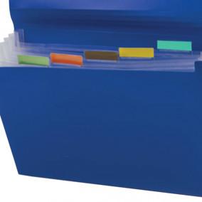 Папка-картотека A4 7 отд. на резинках  Business, Brauberg, ассорти