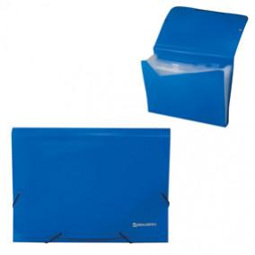 Папка-картотека A4 13 отдел., на резинках, ассорти, Brauberg,