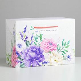 Пакет-коробка «Хорошего настроения», 28 × 20 × 13 см