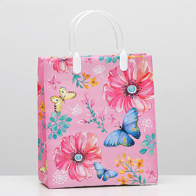 "Пакет пластиковый ""Розовые сны"", 23х27 см"