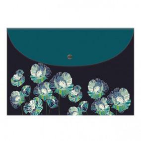 Конверт на кнопке А4 Цветы, Феникс