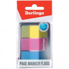 Закладки самокл. Berlingo 45*20мм, 20л*3 неон. цвета, в диспенсере, пластиковые