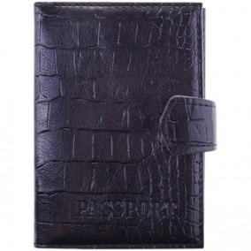 Обложка для паспорта OfficeSpace,  иск. кожа + изолон, с подкладом, кнопка, ассорти