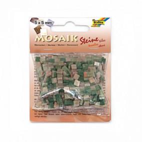 Мозаика Мраморная, 5х5мм, 700шт, оттенки зеленого