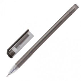 Ручка гелевая 0,5 мм, Option, черная, BRAUBERG