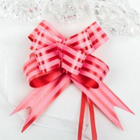 Бант-бабочка №1,8  Полосы на розовом