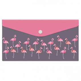 Конверт на кнопке Trave 26*14см, Фламинго, Феникс