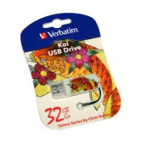 Накопитель USB Flash 32ГБ Verbatim Mini Tattoo Edition, Рыба (USB2.0 )