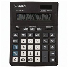 Калькулятор Citizen Bussiness Line CDB1401BK, 14 разрядов, двойное питание, 155x205 мм