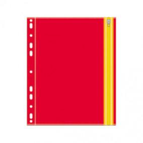 Папка на молнии Zip А5 , Оранжевый, с перфорацией, Феникс
