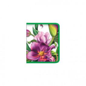 Папка д/тетрадей А5+ Tropical Flowers, пластик, на молнии, ЕК