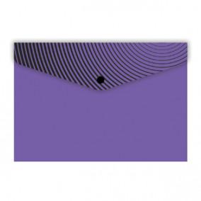 Конверт на кнопке 10,5*7,4см Фиолетовый, Феникс