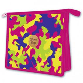 Папка д/тетрадей А5 Цветной камуфляж, пластик, на молнии, Феникс