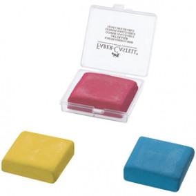 Ластик-клячка Faber-Castell, формопласт, 40*35*10мм, ассорти, пластик. контейнер