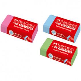 "Ластик Faber-Castell ""Dust Free Pastel"", прямоугольный, картонный футляр, 45*21,5*13,5мм, ассорти"