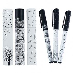 Ручка масл. 0,7мм, DreamWrite «Черно-белая романтика», в тубе, BrunoVisconti
