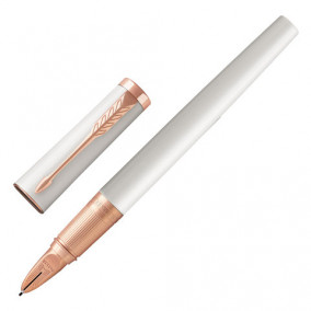 "Ручка ""5-ый пишущий узел"" Parker Ingenuity Premium Pearl Lacguer PGT, черная корп.бел хром"