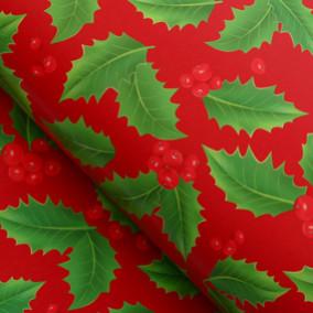 """Бумага упаков. глянц. """"Красные ягоды"""" 50х70см"""