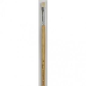 Кисть щетина плоская № 10 длинная ручка, 17 мм, Сонет