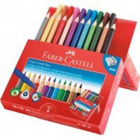 "Набор Faber-Castell Jumbo Grip ""Combi Box"" 12цв.карандашей +10цв. фломастеров +точилка"