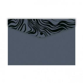 Конверт на кнопке 10,5*7,4см Серый, Феникс