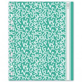Конверт на молнии А5 Буквы, с перфорацией, Феникс