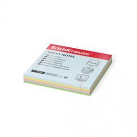 Блок самоклеящийся 75х75 мм, 100 листов, 4 цвета в блоке, ЕК